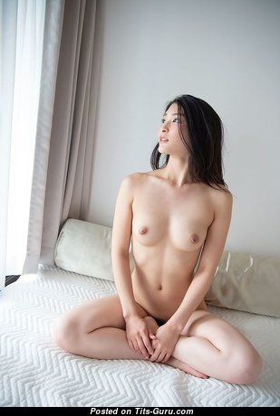 Superb Topless Asian Babe with Superb Exposed Real Meager Tots & Huge Nipples (18+ Photoshoot)