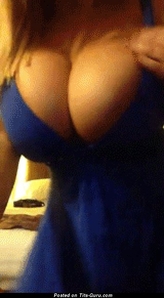 Sweet Blonde Babe Jumping Exquisite Defenseless Big Tittes (Porn Gif)