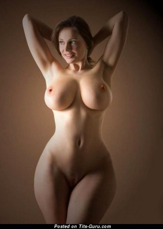 Image. Naked beautiful lady with huge natural tittes image