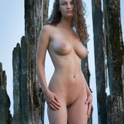 Awesome woman with natural tittes image