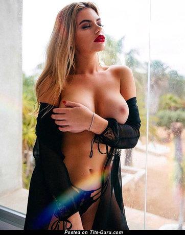 Megan Barton Hanson - Sexy Actress with Sexy Naked Fake C Size Boob (Porn Image)