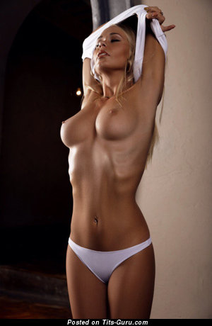 Image. Sexy nude blonde with medium natural boobs pic