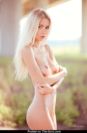 Image. Nude wonderful female with natural boobies image