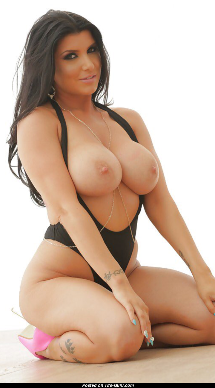 Romi Rain - Topless Brunette Babe With Bare Tight Chest -9863