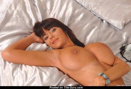Image. Gabriela - brunette with huge natural boob pic