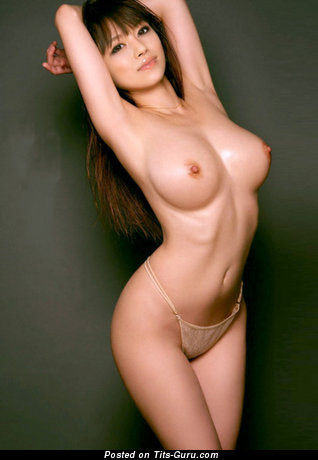 Image. Sexy naked asian brunette with medium natural boob image