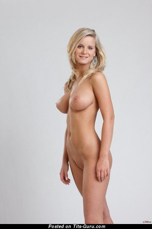 Image. Miela A - naked blonde with big natural tits image