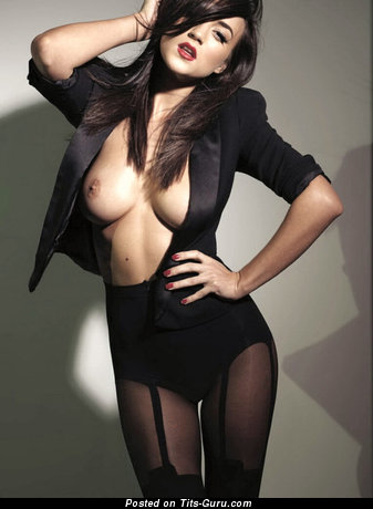 Image. Rosie Jones - sexy naked brunette with medium fake tits pic