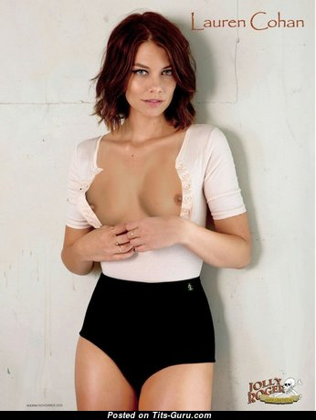 Lauren Cohan - Fascinating Babe & Actress with Fascinating Bare Natural Tit is Undressing (Hd 18+ Pic)