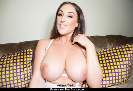 Stacey Poole - Grand British Red Hair with Grand Exposed Natural Great Boob (Hd Porn Pic)