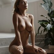 Alluring Babe with Alluring Naked Natural Med Knockers (Hd Porn Pic)