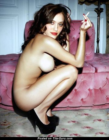 Kat Dennings - Marvelous American Actress & Babe with Marvelous Exposed Real Dd Size Boobie (Hd Porn Photoshoot)