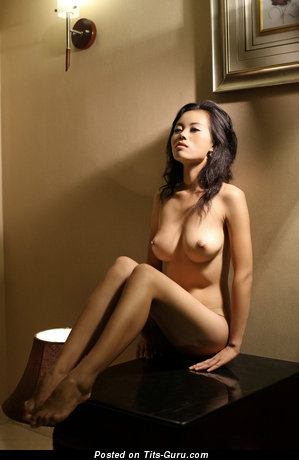 Image. Naked asian brunette with big natural tittys picture