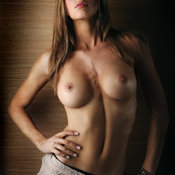 Wonderful girl with medium natural breast photo