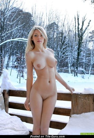 Marvelous Blonde with Marvelous Defenseless Natural Substantial Boob (Sexual Photoshoot)