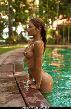 Julia Yaroshenko - Grand Wet Red Hair Babe with Grand Defenseless Regular Knockers in the Pool (Xxx Pix)