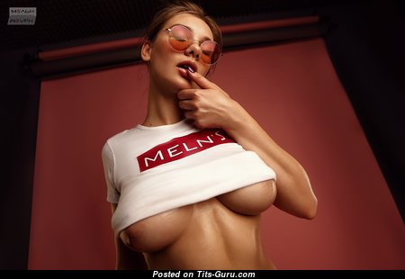 Perfect Glamour Unclothed Miss with Inverted Nipples (Hd Porn Photoshoot)