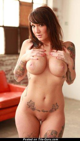 Image. Naked awesome female with tattoo photo