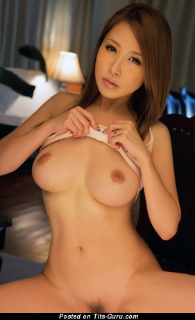 Image. Sexy nude asian red hair with medium boobies photo