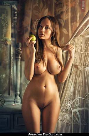 Anna Reis - Handsome Russian Playboy Red Hair Babe & Girlfriend with Handsome Defenseless Real D Size Knockers & Sexy Legs (Private Sexual Image)