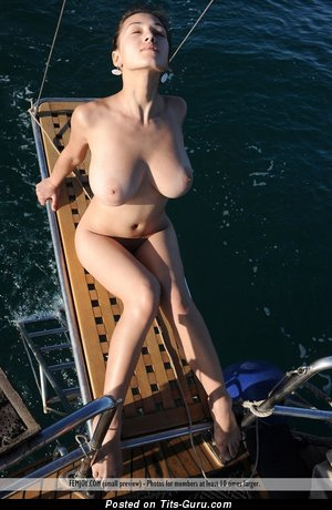 Sofi A - Magnificent Ukrainian Doxy with Graceful Exposed Natural Substantial Tits on the Beach (Sexual Photo)