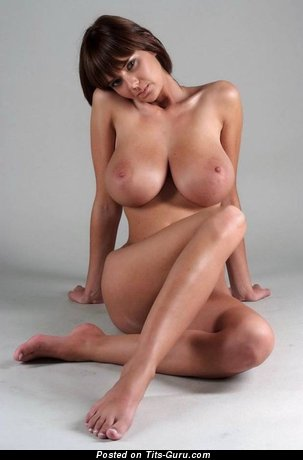 Gabriella - Perfect Topless Hungarian Brunette with Perfect Exposed Big Sized Boobies (Sex Photoshoot)