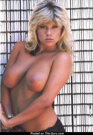 Samantha Fox - фотография офигенной обнажённой блондинки с среднего размера натуральными сиськами