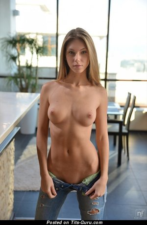 Naked wonderful girl with medium natural boob picture