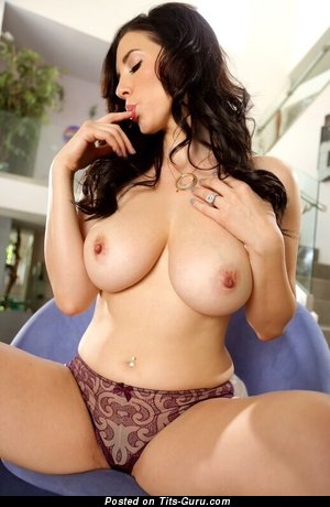 Jelena Jensen - sexy naked brunette with big natural breast picture