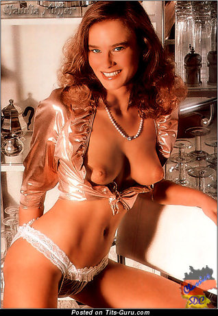 Claudia Müller - Wonderful Blonde Babe with Wonderful Defenseless Real Average Boobs (Vintage Porn Picture)