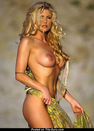 Image. Sexy blonde with natural tots pic