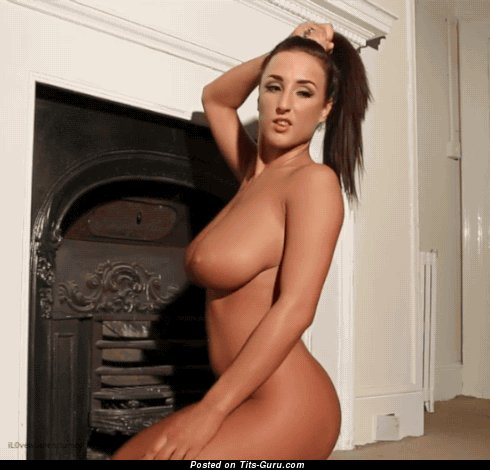 Image. Stacey Poole - nude brunette with huge natural boobies gif