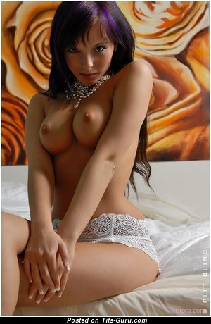 Image. Naked beautiful female with medium boobies picture