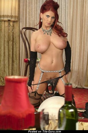 Image. Bettie Ballhaus - red hair with big natural tits photo