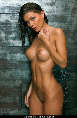 Image. Naked wonderful lady with medium breast picture