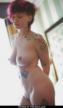 Elegant Red Hair with Elegant Defenseless Natural Chest (Porn Picture)