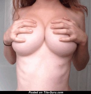 Pretty Topless Female Opening The Nicest Exposed Regular Breasts (Porn Gif)