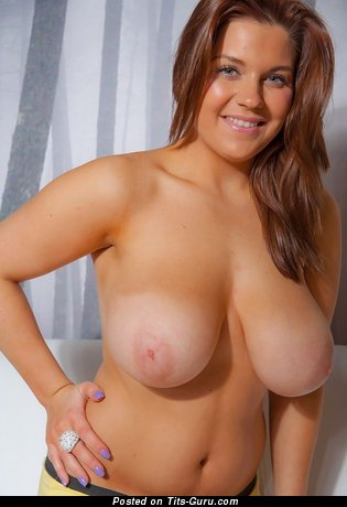 Image. Awesome lady with huge natural breast picture