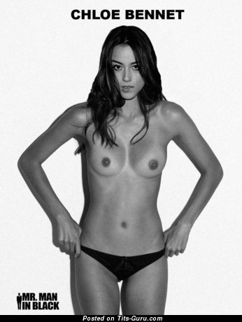 Chloe Bennet - Pleasing Topless American Brunette Singer & Actress with Pleasing Open Natural Mini Tittes & Inverted Nipples (Hd Xxx Photo)