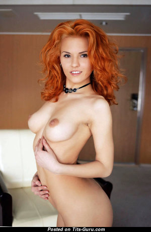 Zarina A - Gorgeous Estonian Red Hair with Gorgeous Bare Flat Boob (Sexual Photoshoot)