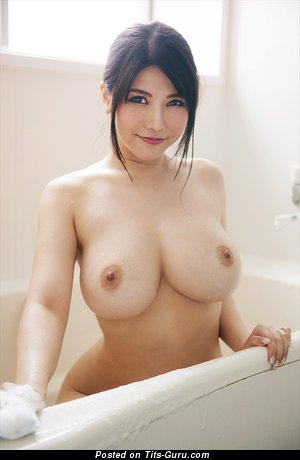 Image. Anri Okita - sexy naked asian brunette with medium natural breast image