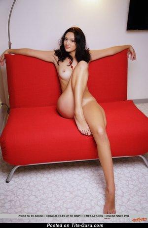 Naked brunette image