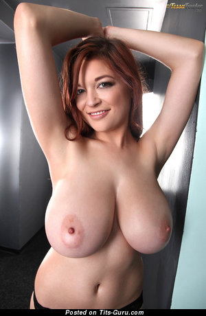 Tessa Fowler: topless red hair with huge natural tittys & big nipples pic