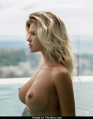 Nata Lee - Adorable Nude Blonde with Giant Nipples in the Pool (Hd 18+ Picture)