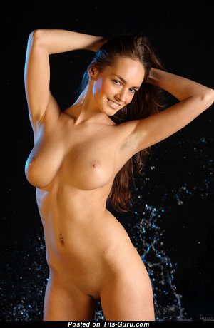 Anabelle Roma - Charming Topless Brunette Babe with Charming Nude Natural Firm Tittes (Hd Sex Photo)