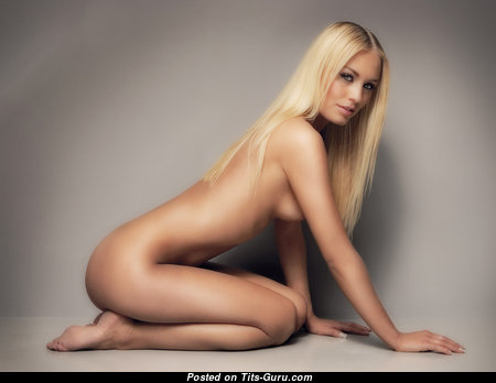Fascinating Blonde Babe with Fascinating Nude C Size Breasts (Hd Sex Picture)