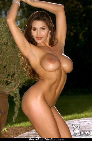 Image. Taya Parker - naked brunette with fake tittes and big nipples image