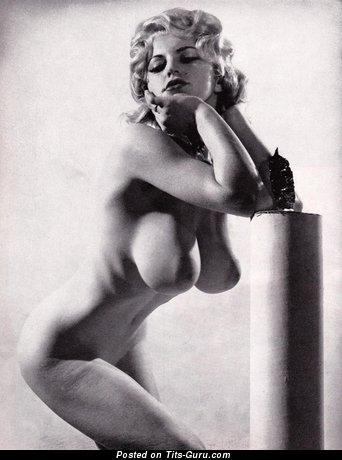 Image. Naked awesome lady with big natural tots vintage