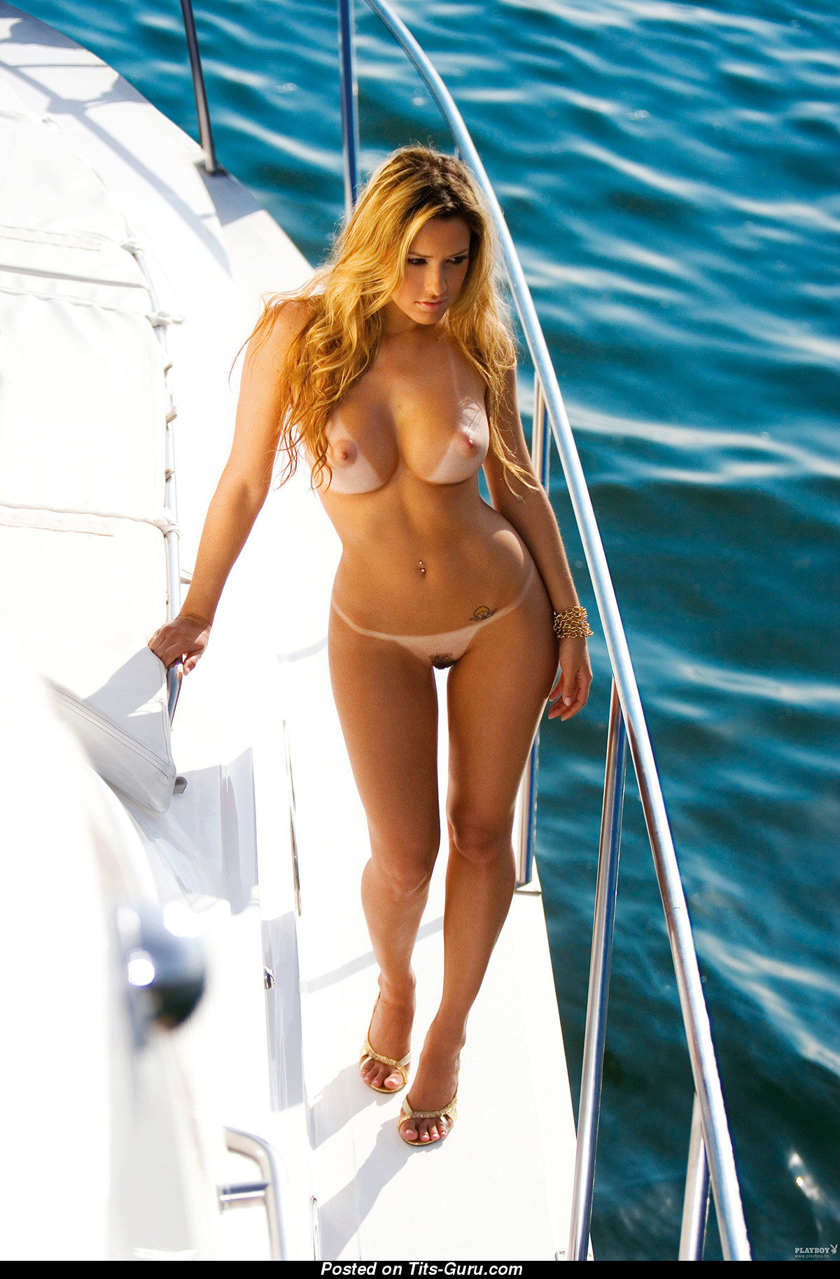 Larissa Saloio - Blonde with Nude Big Boobie on the Beach ...