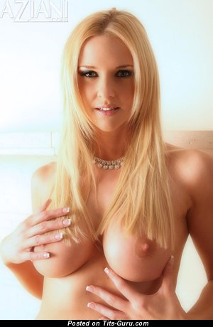 Image. Blonde with big natural boobs picture